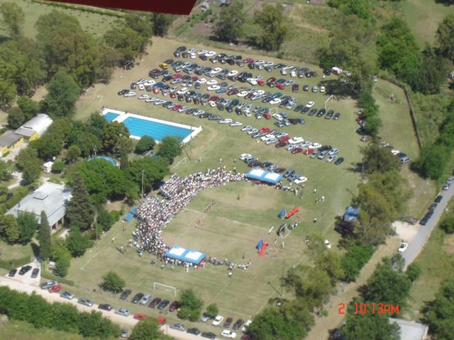 Campo de deportes desde el aire